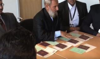 جابر الغفراني يعرض في جنيف انتهاكات الحمدين بحق قبيلته (فيديو)