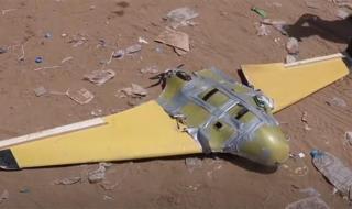 قوات الجيش تسقط طائرة مفخخة تابعة للمليشيات في نهم